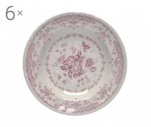 Set 6 farfurii adanci Rose Pink