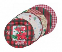 Set 6 platouri decorative Christmas Joy