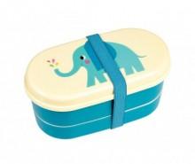 Set cutie pentru pranz cu 2 tacamuri Elvis the Elephant