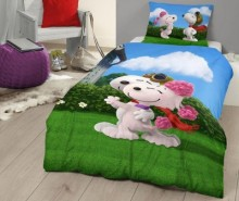 Set de pat Single Ranforce Snoopy Love