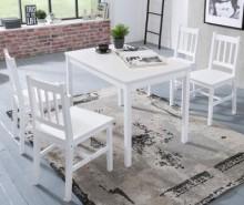 Set masa si 4 scaune Emil White