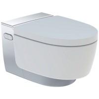 Set vas WC suspendat Geberit AquaClean Mera Comfort capac inchidere lenta si functie bideu electric