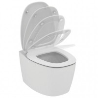 Set vas WC suspendat Ideal Standard Dea AquaBlade cu capac inchidere lenta