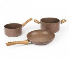 Set vase pentru gatit 3 piese Wood Stone