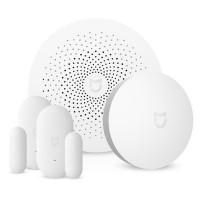 Sistem de alarma pentru casa Xiaomi MiJia, Intrerupator Wireless + Senzor Fereastra/Usa + Dispozitiv Central, Alb