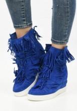 Sneakers cu platforma Agnes Albastru