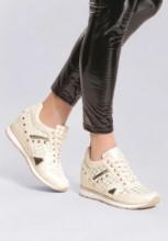 Sneakers cu platforma Clotilde Bej