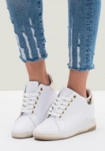 Sneakers cu platforma Richardine Auriu