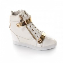 Sneakers dama Denice albi