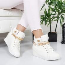 Sneakers Sansa albi confortabili