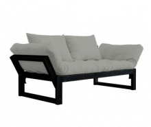 Sofa extensibila Edge Black and Granite Grey