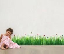 Sticker Colourful Ladybug Grass