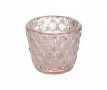 Suport pentru lumanare Diamond Design Pink
