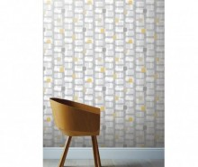 Tapet Retro Block Ochre and Grey 53x1005 cm