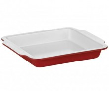 Tava de copt Ecocook Rectangular Handle Red