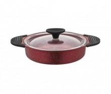 Tigaie cu capac pentru omleta Vilma Red 18 cm