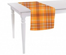 Traversa de masa Orange Checks Plaid 40x140 cm