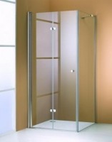 Usa pliabila batanta Huppe Design Elegance 501 Pure 90 cm profil crom mat sticla clara orientare stanga