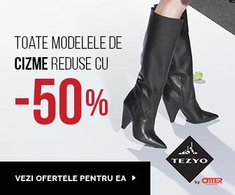 50% reducere la TOATE modelele de ghete si cizme