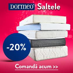 Dormitor -20% reducere la gama de saltele Dormeo