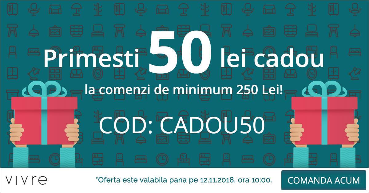 Vivre, Primesti 50 de lei CADOU la orice comanda de minimum 250 lei