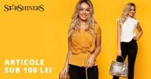 Articole de vară, tricouri, pantaloni scurți, rochii etc la preţuri sub 100 lei