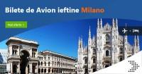 Bilete de avion Milano de la 10 euro dus intors