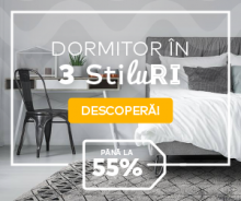 Dormitor in 3 stiluri, Ai pana la 51% reducere la produse atent selectate