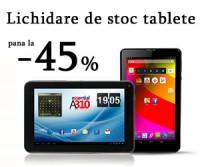 Lichidare de stoc la tablete ieftine, pana la 45% reducere