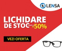 Lichidari de stoc -50% reducere la lentile colorate si ochelari