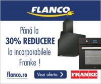 Pana la 30% reducere la electrocasnicele incorporabile Franke