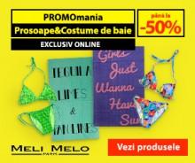 PROMO -50% la Prosoape și Costume de Baie
