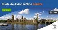 Bilete de avion Londra de la 10 euro dus intors