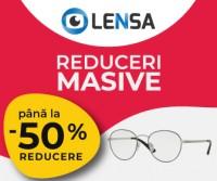 Reduceri masive, pana la 50% la ochelari de soare, rame de vedere si lentile colorate