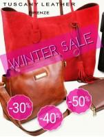 Winter sale -30% reducere la genti din piele naturala Tuscany Leather